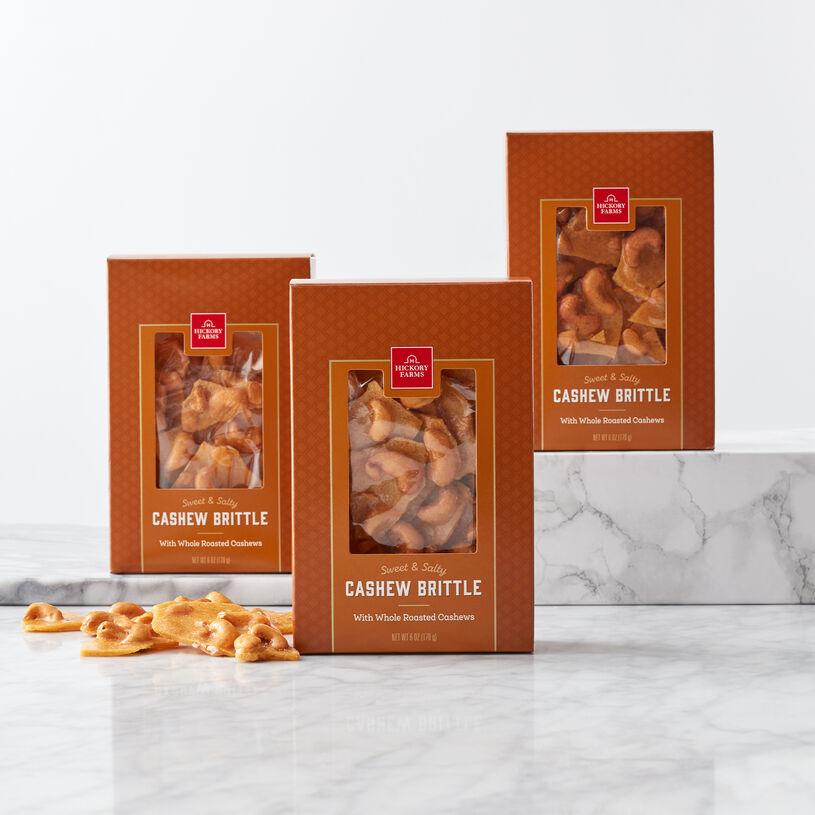 (3) 6 oz Cashew Brittle
