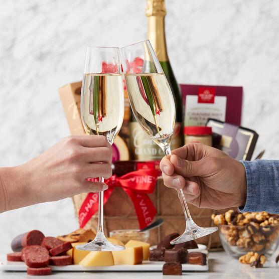 Alternate view of Valentine's Day Sparkling Wine Gift Basket