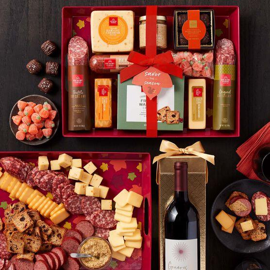 Autumn Entertaining Gift Set with Wine Dark Background