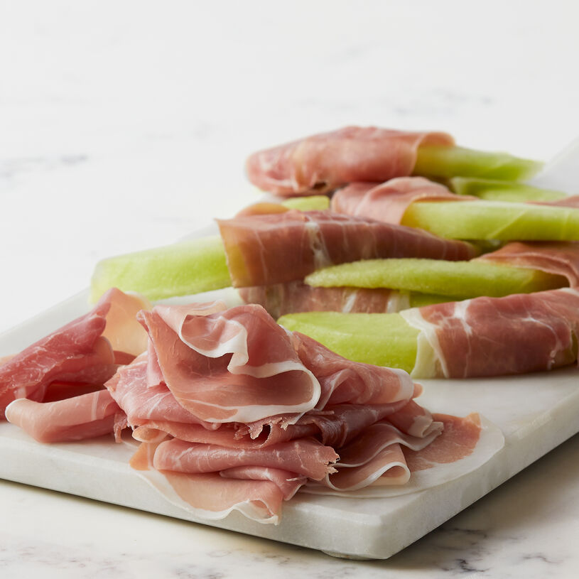 This Italian-style premium pork prosciutto is slow-cured and dried, then sliced thin for a wonderful addition to any charcuterie board.