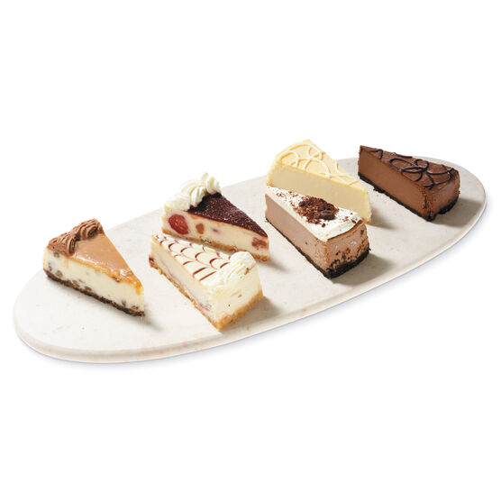 Pre-sliced gourmet cheesecake sampler