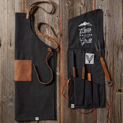 Folded Grilling Apron and Tool Set
