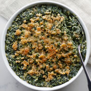 Our Gourmet Dinner includes Parmesan Creamed Spinach