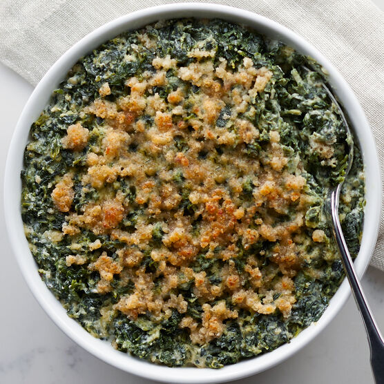 Crisp spinach, buttery spinach combined generously with milk, Asiago, Parmesan, and mozzarella cheeses.