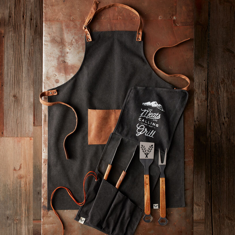 Grilling Apron and Tool Set