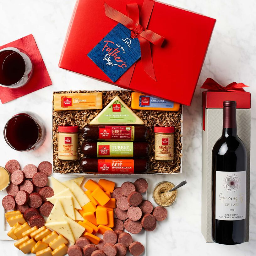 Father's Day Hearty Bites & Cabernet Gift Set
