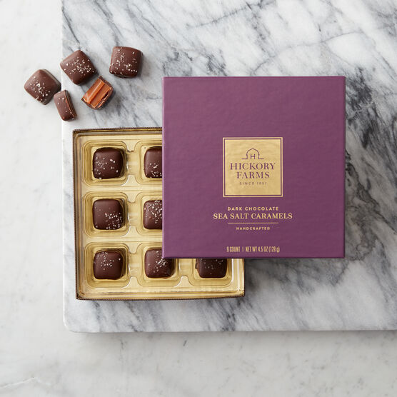 Hickory Farms Dark Chocolate Sea Salt Caramels