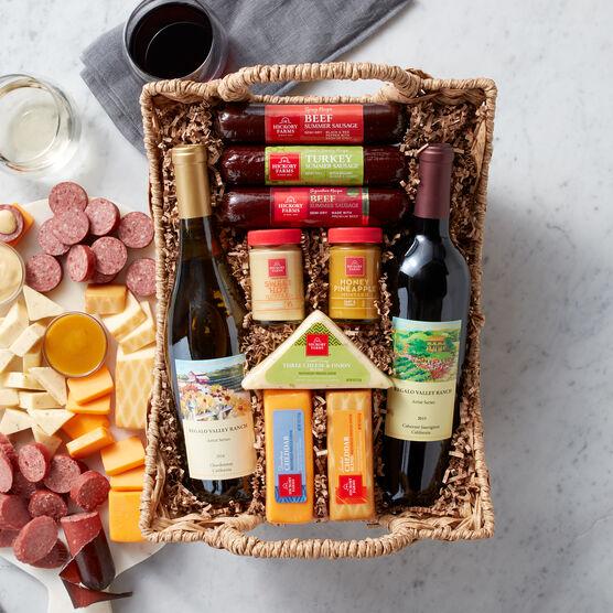 Hearty Bites & Wine Gift Basket