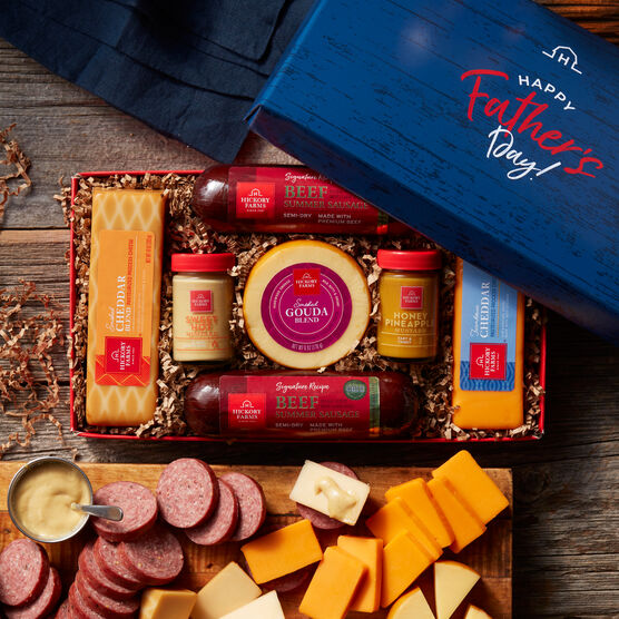 Father's Day Summer Sausage and Cheese Gift Box
