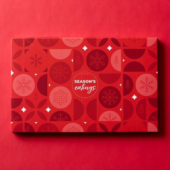 Season's Eatings Charcuterie & Chocolate Gift Box Lid