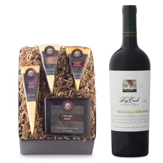 Artisan Cheese & Wine Gift Box with Dry Creek Cabernet Sauvignon