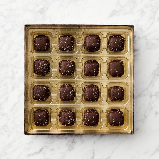 Dark Chocolate Sea Salt Caramels Inside Box