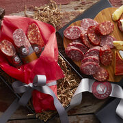 Valentine's Day Salami Bouquet includes two varieties of dry salami
