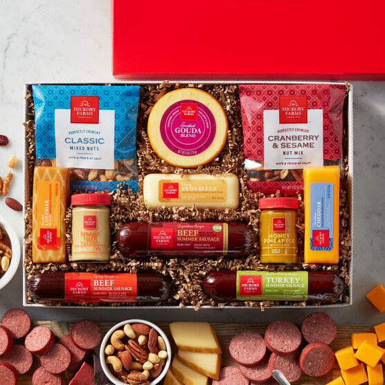 Meat and Cheese Gift Baskets | Hickory