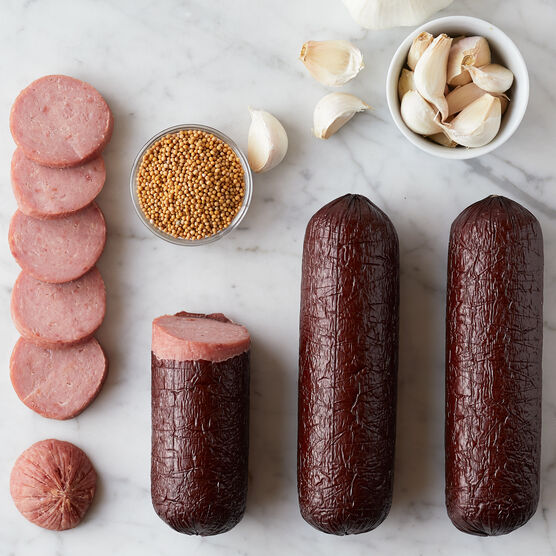 Made with premium turkey and expertly curated spices, this smoky and semi-dry sausage is a great addition to any charcuterie board.