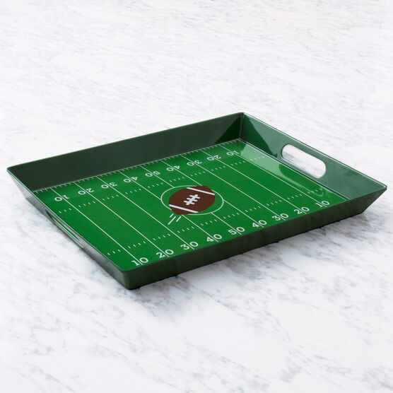Game Day Entertaining Gift Set Football Field Tray