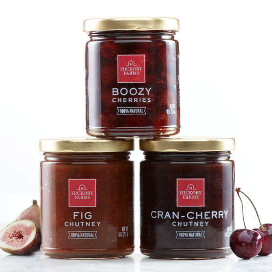 Fig Chutney, Boozy Cherries, and Cran-Cherry Chutney are all made with all-natural ingredients and make a great gift for the foodie in your life!