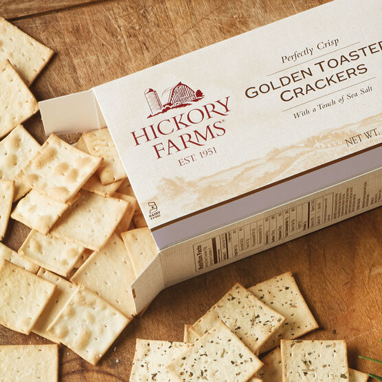 golden toasted crackers