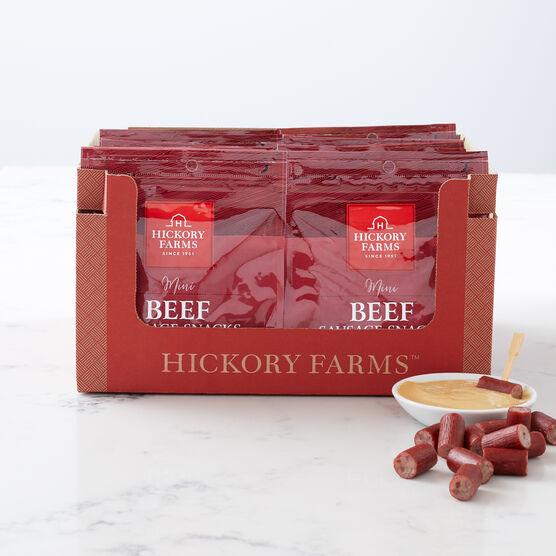 Alternate View of Mini Beef Sausage Snacks in box