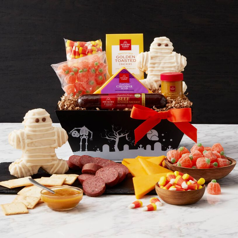 The Halloween fanatic in your life will love to unwrap this spooky collection of snacks!