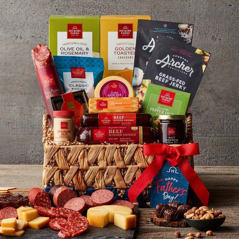 Deluxe Father's Day Gift Basket - Dark Background