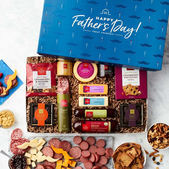 Father's Day Charcuterie & Chocolate Gift Box - White Background