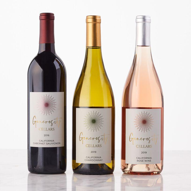 Generosity Cellars Wine Gift Trio