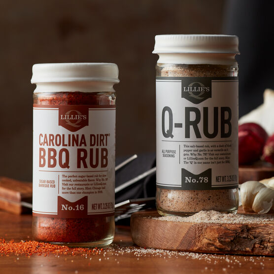 Featuring one each of sweet and smoky Carolina Dirt BBQ Rub and spicy and savory Q-Rub, this gift will add some extra flavor to ribs, steaks, chops, and burgers.