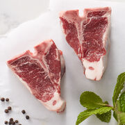 Alternate view of 6 oz. American lamb chops - Ships frozen and raw