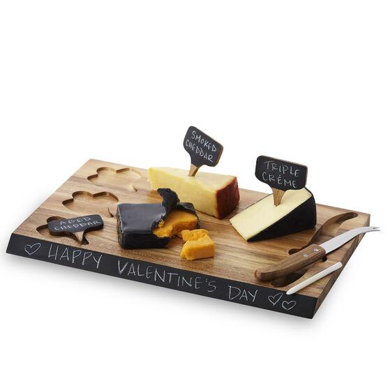 Acacia Wood Cheese Service Set