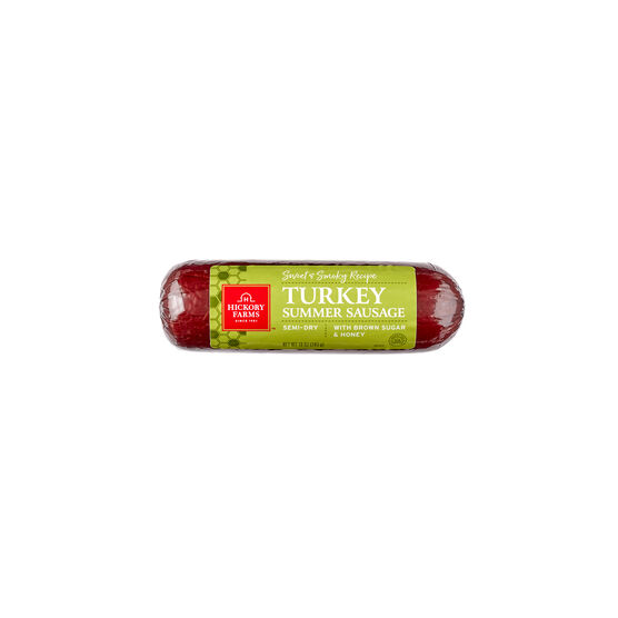 Alternate View of Sweet & Smoky Turkey Summer Sausage Packaged