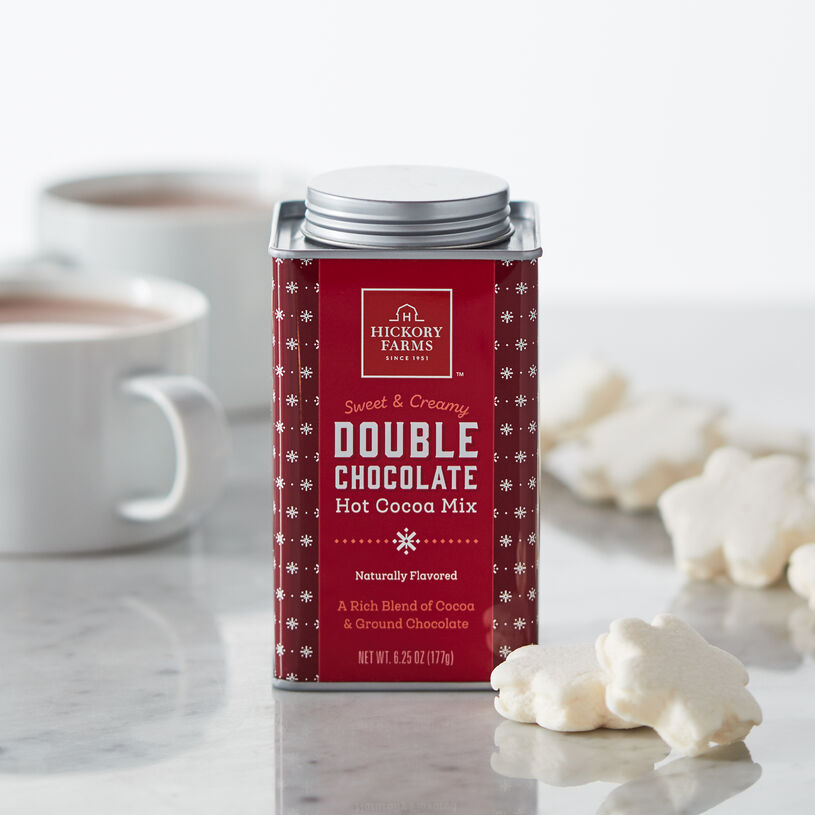 Indulge in a smooth, creamy treat with our Double Chocolate Hot Cocoa Mix.