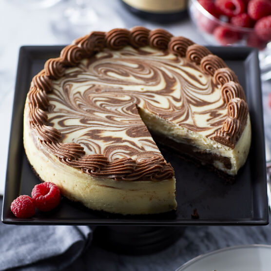 Alternate View of Marble Cheesecake