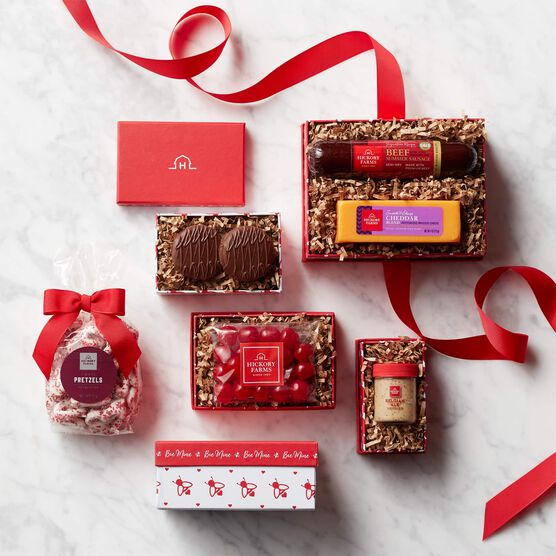 Valentine's Day Sweet & Savory Gift Tower - Box Contents