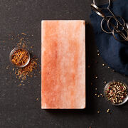 This block is made from real premium Himalayan salt and is perfect for adding depth of flavor to grilled or seared meats.