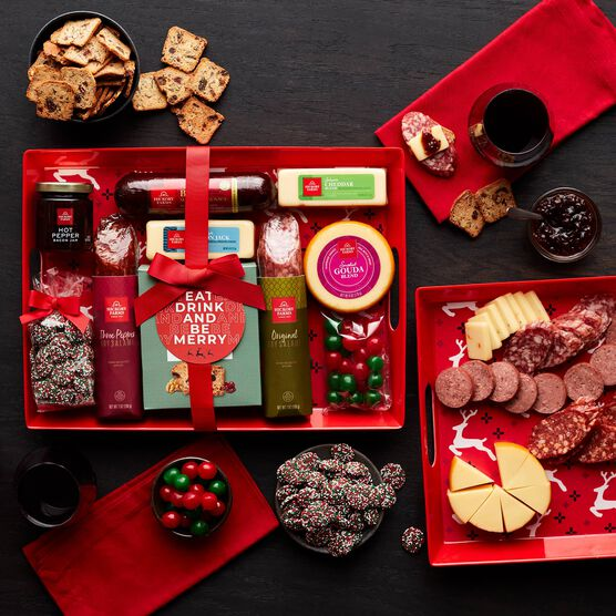 Holiday Entertaining Gift Set Contents and Charcuterie