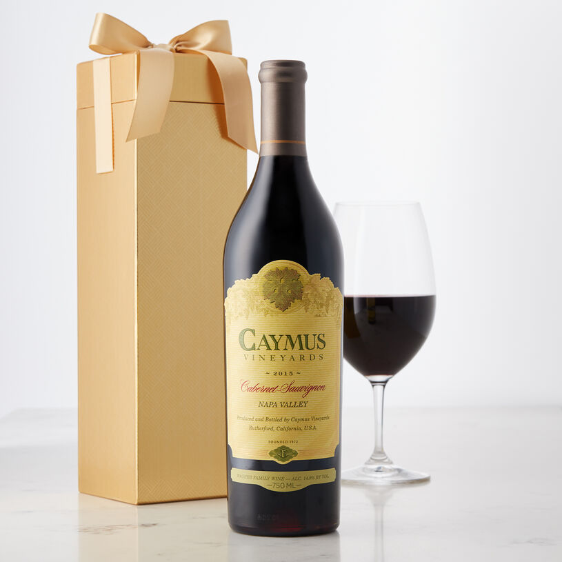 From Napa Valley, this Cabernet Sauvignon has a blackberry hue, with scents of rich leather, cooked caramel, berries, and forest floor.