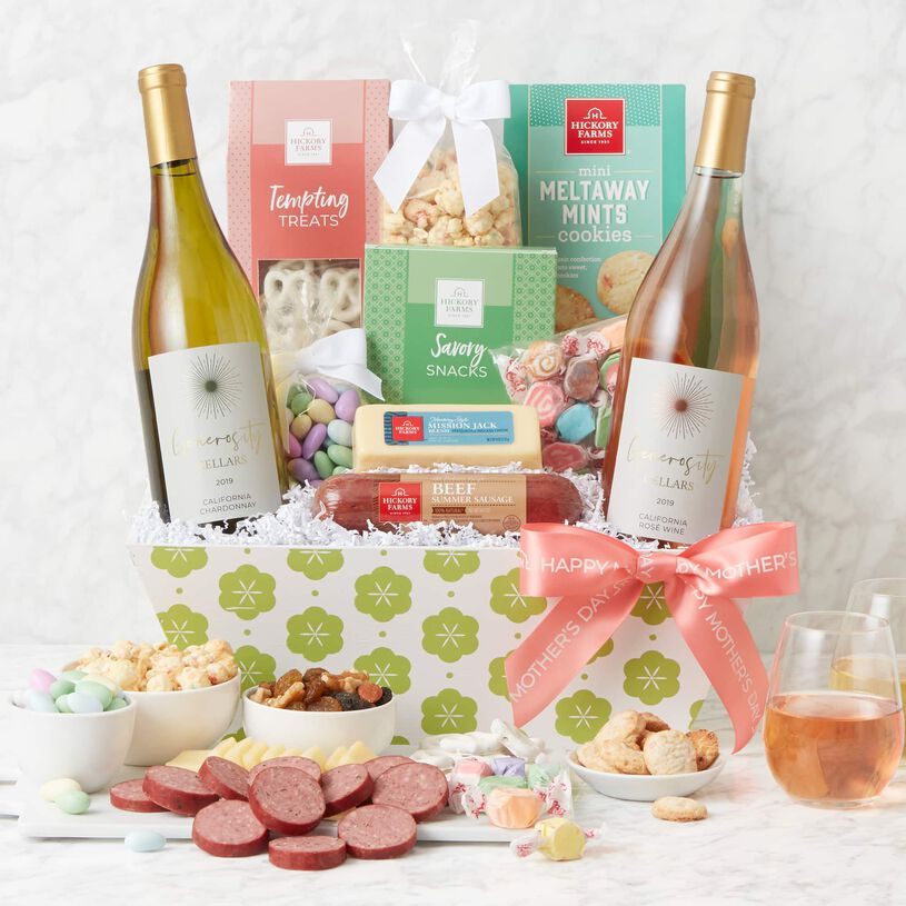 Mother's Day Premium Treats and Wine Gift Basket