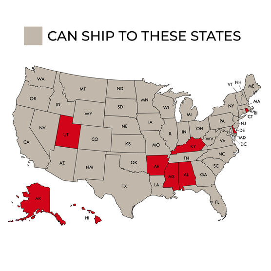 Restricted shipping states for Gourmet Charcuterie & Wine Gift Crate