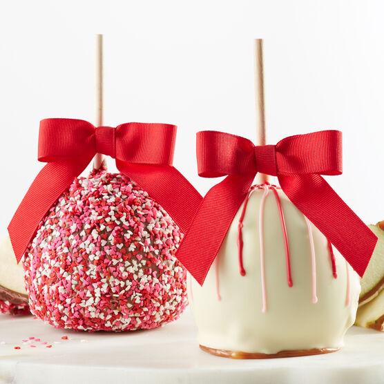 Caramel Apples for Valentine's Day