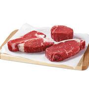 Grand Assortment includes Pfaelzer's famous filets, New York Strip Steaks, and Porterhouse steaks