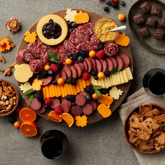 Premium Charcuterie & Chocolate Gift Box with Wine Charcuterie