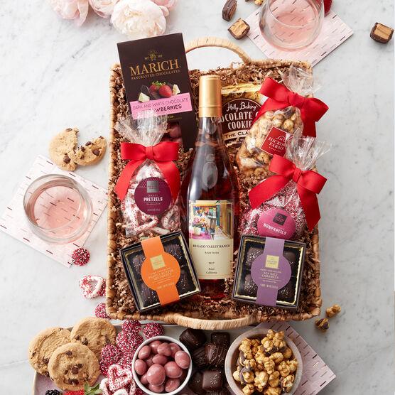 Sweets & Rosé Gift Basket