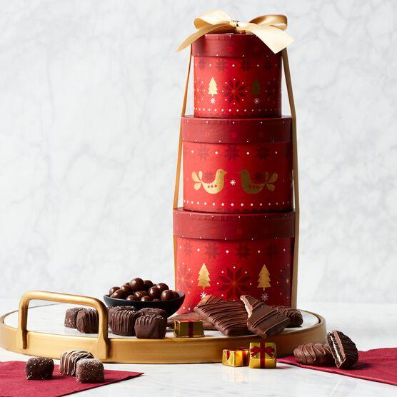 Alternate view of Chocolate Indulgence Holiday Gift Tower