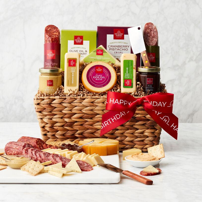 Happy Birthday Gourmet Salami & Cheese Gift Basket