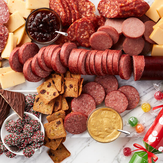 Grand Holiday Gift Box Charcuterie Spread