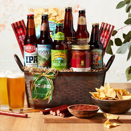 Pick Six Craft Beer Gift Basket Light Background