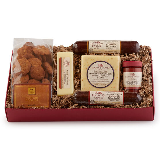 Share a taste of autumn flavors with this delicious gift box.