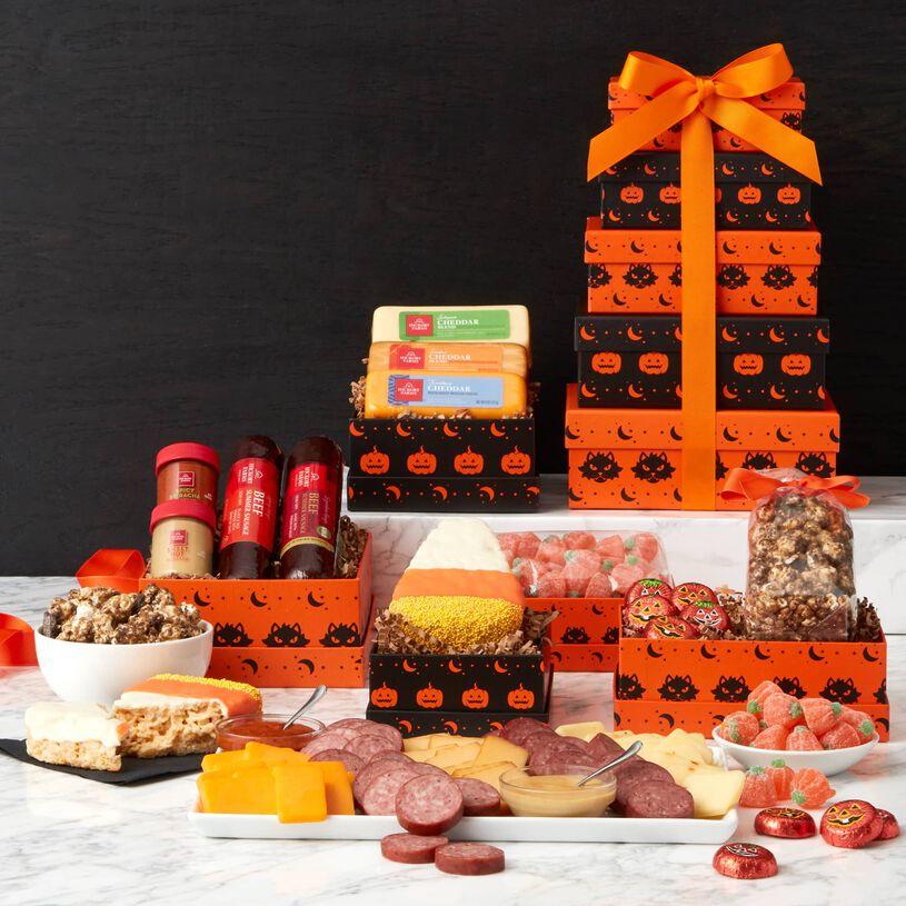 Spooky Snacks Halloween Gift Tower