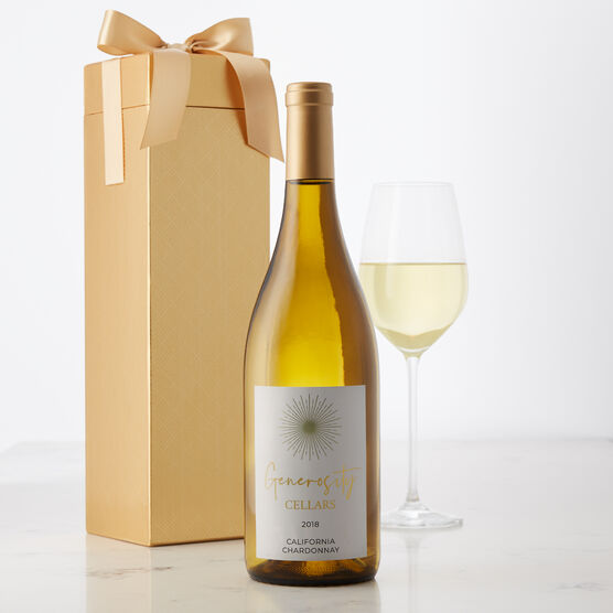 Generosity Cellars California Chardonnay White Wine Gift